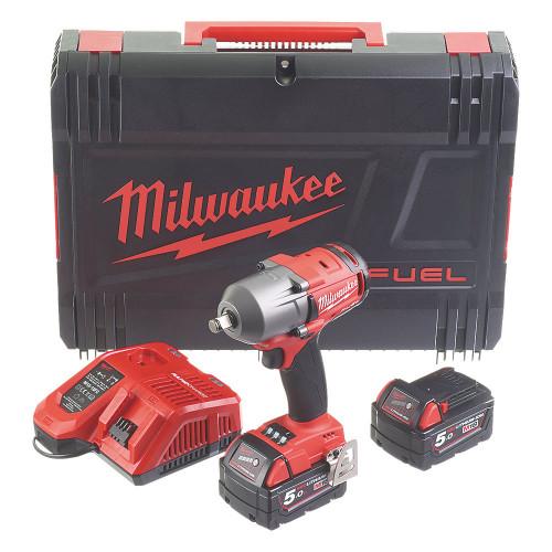 "Milwaukee M18 FMTIWF12-502X Cordless Impact Wrench 1/2"""